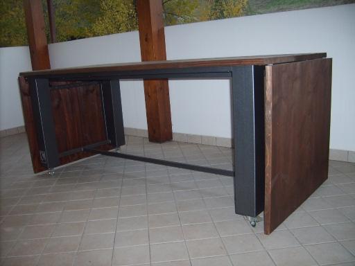 Berto design arredo negozi bar roma faenza ravenna - Tavolo ferro e legno ...